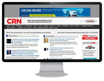 Monitor with CRN online display ads