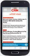 Smartphone with CRN mobile display ads for increased brand awareness