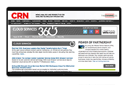 Monitor with CRN360 thought leadership web page