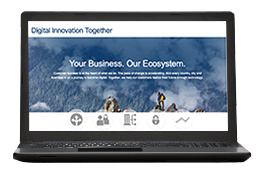 Laptop with example of CRN custom microsite for IT thought leadership