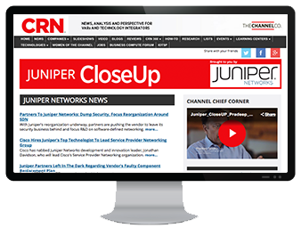 Example of CRN CloseUp thought leadership web page