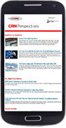 Smartphone with CRN account based marketing email newsletter